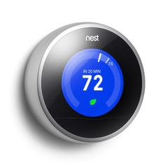 NEED THIS! ~ Nest Learning Thermostat - it will learn your schedule, and you can control your thermostat from your mobile device or computer saving yourself up to 20% a month in energy costs.
