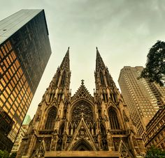 St Patrick's Cathedral...and the modern buildings by Carlos CB, via 500px