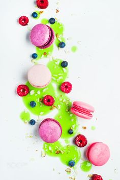 Art of desserts (with macaron and berries) by Dina (Food Photography) on 500px