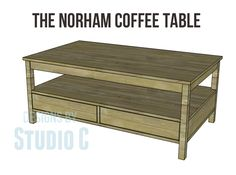 This DIY Norham Coffee Table is the ultimate in storage with four drawers (two on each side), a huge shelf, and a large top. Edgebanding will be applied to the exposed edges of the plywood prior to assembly. Get the free DIY plans from at buildsomething.com