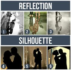 Pose Ideas for Couples: Reflection & Silhouette