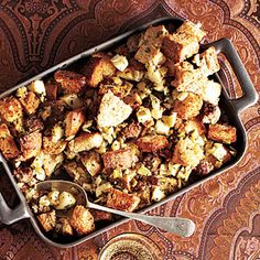 Dinner: Thanksgiving side dish: stuffing Sausage and Apple Stuffing Recipe | MyRecipes.com Mobile Cooking Light