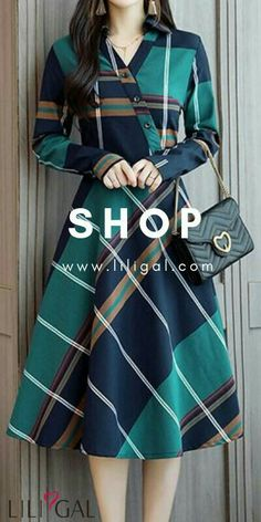 Swans Style is the top online fashion store for women. Shop sexy club dresses, jeans, shoes, bodysuits, skirts and more. Stylish Dresses, Cute Dresses, Beautiful Dresses, Casual Dresses, Kurta Designs, Blouse Designs, Mode Tartan, Hijab Fashion, Fashion Dresses