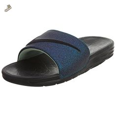 b4a912639 Nike Womens Benassi Solarsoft Slide - Black Black Vapor Green Teal 8 - Nike  sneakers for women ( Amazon Partner-Link)