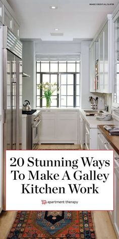 These spaces might be tight, but they can also be stylish and efficient. Find inspiration in these galley kitchen ideas for decorating your own cooking area. #galleykitchen #kitchendecor #kitchenideas #narrowkitchen #tinykitchen #smallkitchenideas #galleykitchenideas #smallspaces #ktichenremodel #kitcheninspiration