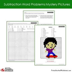 Grade 2 Subtraction Word Problems Coloring Worksheets Sample 2 Coloring Worksheets, Coloring Pages, 2nd Grade Math Worksheets, World Problems, Color Activities, Addition And Subtraction, Grade 2, Mystery, Lettering
