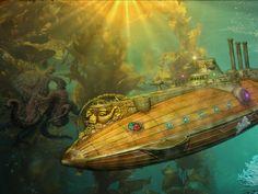 Jules Verne Nautilus Wallpaper   1280x960 submarine the nautilus 20000 leagues under the sea jules ...