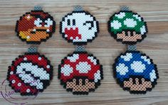 Mario Christmas baubles hama perler beads by Adorine-crea