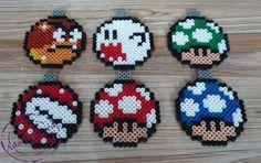 Boules de Noël Mario en perles Hama