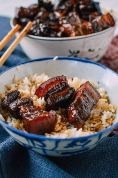Chairman Mao's Red Braised Pork Belly – The Woks of Life - Pork Recipes Pork Recipes, Asian Recipes, Cooking Recipes, Asian Pork Belly Recipes, Hawaiian Recipes, Some Recipe, Mexican Recipes, Grilling Recipes, Gastronomia