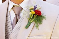 Boutonnieres for the Boys, Wedding Flowers Photos by Sean Ealy Photography