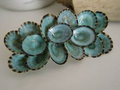 Sea Shell Barrette or Hair Clip Wedding Clip by lorisartstudio, $12.95