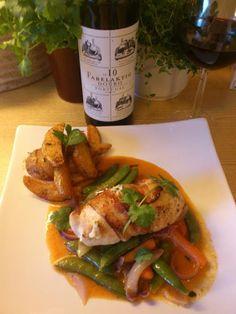 Edel's Mat & Vin : Timianfylt kyllingfilet med ost & bacon og Hot kok...