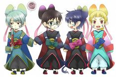 Okumura Rin, Okumura Yukio, Usamaro, Cheng-long Liu   Ao no Exorcist   Anime