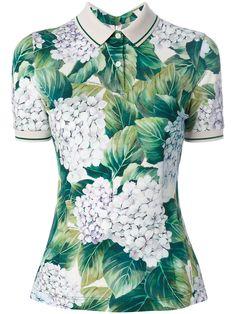 Dolce & Gabbana floral print polo shirt