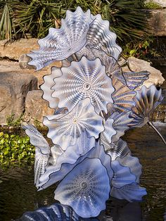 Chihuly at Dallas Arboretum its amazing what he did with the broken glass from the tornadoes that ripped through DFW