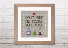 Don't make me poison your food PDF cross stitch door cloudsfactory