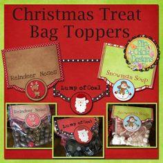 Christmas Treats Bag Toppers