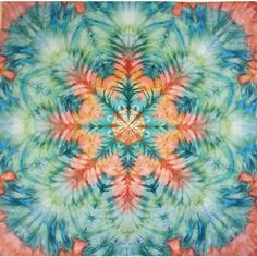 large wall hanging tie dye tapestry peach turquoise by LimSpace Tie Dye Tapestry, Bohemian Wall Tapestry, Tapestry Wall Hanging, Green Wall Art, Pink Wall Art, Pink Turquoise, Aqua, Color Splash, Pink Centerpieces