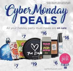 You guys! Don't miss out on these awesome cyber Monday deals from perfectly posh! I've already stocked up for Christmas lol. Https://elizabethdake21.po.sh