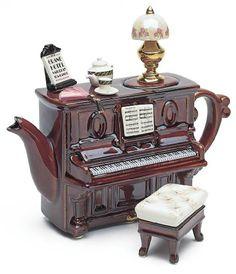 The TeaPottery Piano Tea Dance Teapot. #Teapot #Collectible #Decor #Gift #gosstudio .★ We recommend Gift Shop: http://www.zazzle.com/vintagestylestudio ★