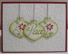 Christmas Ornaments by Loll Thompson - Cards and Paper Crafts at Splitcoaststampers