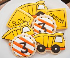 Construction Sugar Cookies 12 by SugarbeeGoodies on Etsy, $24.00