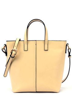 Elegant Centre Stitching Wholecolored Bucket Handbag