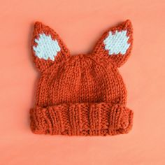 SINCERELY LOUISE: SUPER CHUNKY FOXY HAT PATTERN; pattern is designed for an adult, but change the weight of yarn use to a smaller weight & the pattern is adaptable to fit a child's head