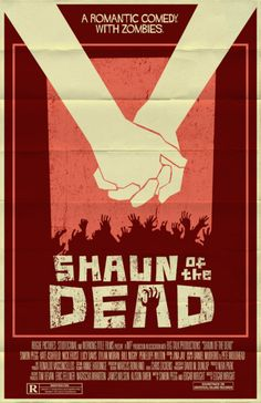 Minimalist Movie Poster: Shaun of the Dead by Mark Welser