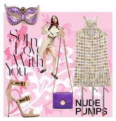 """So In Love With Nude PUMPS"" by adelinetaylor ❤ liked on Polyvore featuring Emilio Pucci, Marc Jacobs, Sebastian Professional, Giuseppe Zanotti and Masquerade"