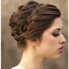 22 Great Braided Updo Hairstyles for Girls ❤ liked on Polyvore featuring hair, hairstyles and hair styles