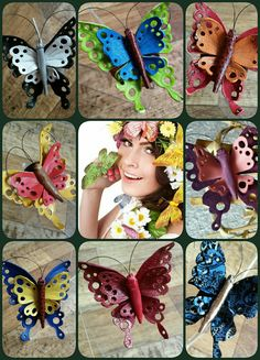 """ПРОДАЁТСЯ.   Мини -брошка """"Бабочка"""". Натуральная кожа.  Возможно выполнение в любом другом цвете и сочетании. Размер 7×7 см."""