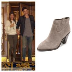 Jojo Fletcher wears grey suede booties in this week's episode of The Bachelorette. They are the Ash Ivana Boots. Buy them HERE.