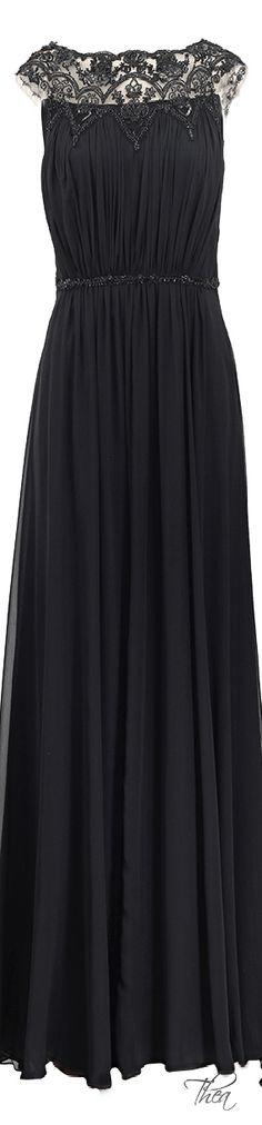 Notte By Marchesa ● Silk Chiffon Beaded Gown     jaglady