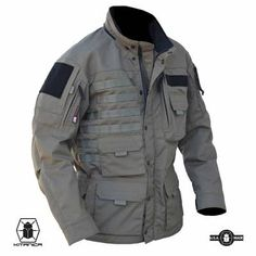 The Kitanica MARK V is the ultimate outdoor jacket. This ¾ length jacket is built using 500 denier CORDURA® with 1000 denier CORDURA® reinforcement on the shoulders, cuffs and elbows and comes with a detachable hood. Tactical Wear, Tactical Jacket, Tactical Clothing, Military Gear, Military Fashion, Military Jacket, Winter Gear, Outdoor Outfit, Men's Fashion