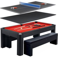 Eastpoint Sports 84 Inch Outdoor Billiard Table With Table