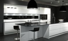 Cocinas the singular kitchen on pinterest blanco y negro for Muebles sayma