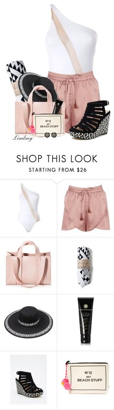 """Norma Kamali One Piece"" by lindsayd78 ❤ liked on Polyvore featuring Norma Kamali, Boohoo, Corto Moltedo, Soleil Toujours, Torrid, Bag-All, Oscar de la Renta and beachday"