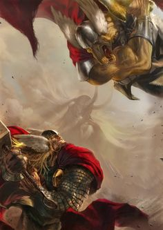 Thor vs. Beta Ray Bill by Deryl Braun