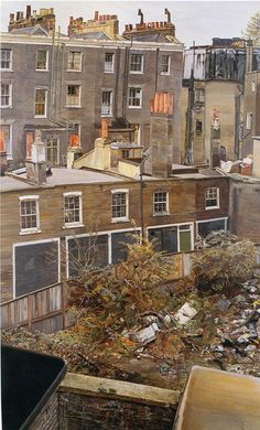 Lucien Freud Wasteground with houses, Paddington 1970/2 Presumably the view from his studio?