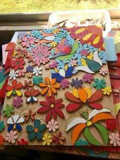 Mosaic Garden, Mosaic Art, Mosaic Glass, Stained Glass, Mosaic Ideas, Mosaic Projects, Mosaic Flowers, Decoration, Quilts