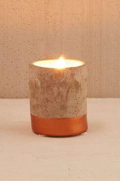 Paddywax - Petite bougie en béton parfum bergamote