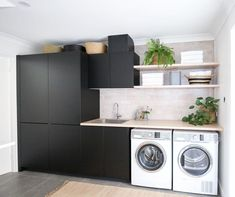 The Little-Known Secrets to Laundry Room Design Ideas There are lots of design ideas in the post basement laundry room which you are able to find, you will see ideas in the gallery. Therefore, if you're searching for design suggestions… Continue Reading → Basement Laundry, Laundry Room Storage, Laundry In Bathroom, Laundry Cabinets, Laundry Shelves, Diy Cabinets, Modern Laundry Rooms, Laundry Room Inspiration, Küchen Design