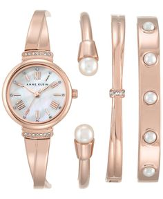 7fe6935a6335 Anne Klein Women s Rose Gold-Tone Bracelet Watch and Bangle Set 32mm  AK-2372RGST Jewelry   Watches - Watches - Macy s