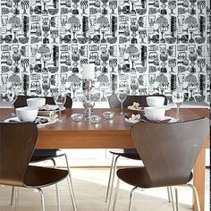 Marimekko Kippis Wallpaper by Wallpaper Direct. Find more ideas at Redonline.co.uk.