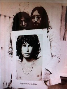 Yoko and John with their Christmas card