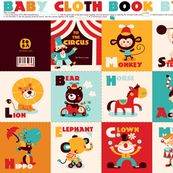 Fabric pre-printed to make a baby cloth book.  Spoonflower is so cool!