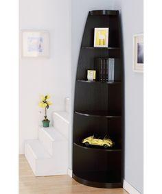 Arctic Sleek Corner Display Stand/bookcase - Espresso