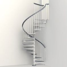 Arke Eureka 63 In X 10 Ft White Spiral Staircase Kit Spiral Staircase At